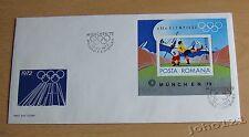 Rumänien 1972 Mi.Block 97 FDC Olympische Sommerspiele MÜNCHEN,Olympiastadion