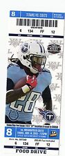 2013 TENNESSEE TITANS VS INDIANAPOLIS COLTS TICKET STUB 11/14/13 ANDREW LUCK