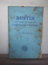 The Austin A55 (Mk. II ) and A60 Cambridge & Countryman Driver's Handbook