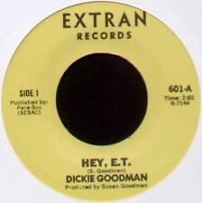 "DICKIE GOODMAN ~ HEY, E.T. / GET A JOB ~ 1982 US 7"" SINGLE ~ EXTRAN 601"