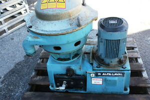 Alfa Laval MMPX 304SGP-11-50 9510 RPM high speed disc centrifuge oil purifier