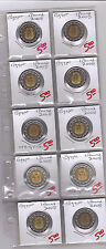 From Show Inv. - 10 UNC. BI-METAL 1 POUND COINS w/ KING TUT from EGYPT (2008)