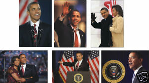 Barack Obama US President 6 Card POSTCARD Set