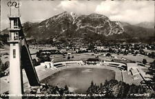 GARMISCH PARTENKIRCHEN Bayern 1957 Olympia Ski-Stadion mit Skisprungschanze AK