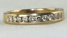 Diamond Wedding Band Ring Used 14K Gold 1/3Rd Carat