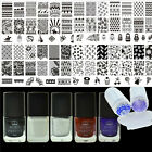 10Pcs/set Nail Stamping Plates Stainless Steel & Stamping Polish Set Born Pretty