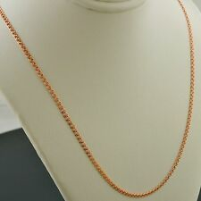 10K ROSE GOLD 22 INCH 2mm INTERLINK (LOVE) CHAIN NECKLACE FREE SHIPPING