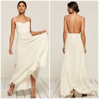 $388 NWT Reformation Thistle Open Back Ivory Maxi Dress, 2