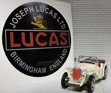 Land Rover Serie 1 80 Vintage Oldtimer Lucas Löwe Zeit Akku Schwarz Aufkleber