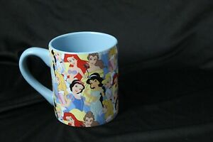 Disney Princesses  Jasmine Aurora Snow White Belle Ariel Coffee Cup Mug 14 oz