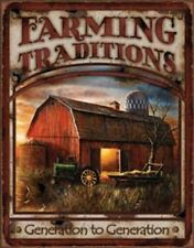 Farming Traditions Novelty TIN SIGN Vintage John Deere Barn Wall Poster Decor