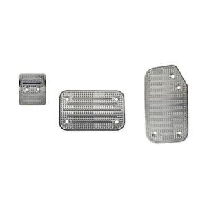 Putco 932145 Accelerator And Brake Pedal Pad Set - Brushed Finish Aluminum NEW