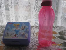 ^Tupperware Walt Disney Cinderella Sandwich Keeper Box Snack (Purple) + Bottle