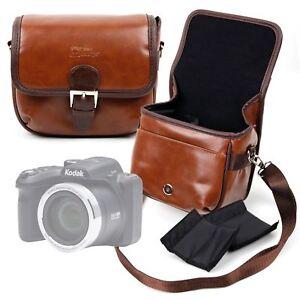 DURAGADGET Sacoche similicuir marron pour appareil photo bridge et caméscope