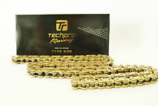 Motorcycle Chain Gold,TechPro Racing Type: 520 Length:120 links