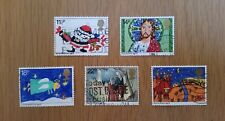 Complete GB used stamp set - 1981 Christmas (Children's Paintings)
