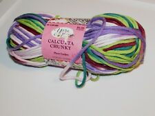 NEW Yarn Bee Calcutta Chunky Plum Garden Purple - Green Cotton Acrylic Yarn