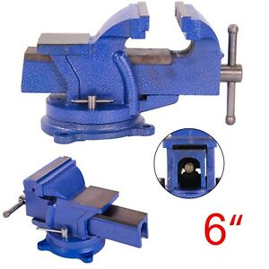 "6"" Heavy Duty Work Bench Vice Vise Workshop Clamp Engineer Jaw Swivel Base"