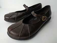 DANSKO EUR 41 US 10.5M 11M Brown Smooth Leather Mary Jane Wedge Shoe MOROCCO