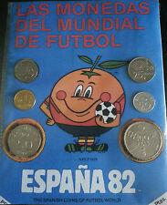 Serie de monedas del mundial de fútbol España 1982, con su mascota el Naranjito