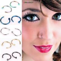 Fake C Clip Lip Ring Nose Piercing Septum Hoop Non Tragus Women Body Jewelry
