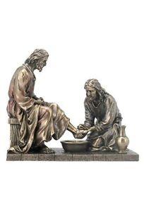 8.5 Inch Jesus Washing Disciples Feet Christ Statue Figurine Religious Decor