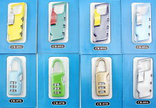 Gepäckschloss Zahlenschloss Vorhängeschloss Koffer Schlösser Reisekoffer 3 Stück