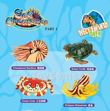 Set of 4 Sea Creatures Animal Part I 4D 3D Puzzle Model Kit Ocean Toy