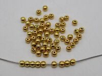 1000 Golden Tone Metallic Acrylic Smooth Round Seed Beads 4mm Spacer Beads