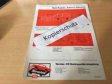 Opel Kapitän - Admiral - Diplomat B ab 1969  / Terotex Hohlraumversiegelungsplan