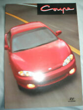 Hyundai Coupe brochure c2000 Swiss market French text