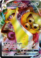POKEMON AEGISLASH VMAX 127/185 FULL ART ULTRA RARA HOLO VOLTAGGIO SFOLGORANTE