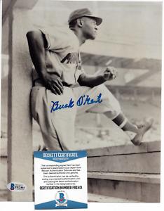 Autographed Negro Baseball League Player Mgr. ~Buck O'Neil~ Beckett KC Monarchs