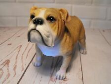 BULLDOG FIGURINE BROWN / WHITE BULLDOG ORNAMENT GIFT , BULLDOG FIGURINE PRESENT
