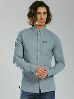 Superdry Shirt Size L Large Shoreditch Mens Blue Soft Cotton Long SleeveFlawless