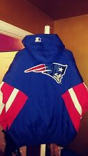 New England Patriots Throwback  Pullover Starter Jacket Large New!