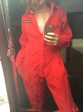 Vintage Racing Mate Overalls Mechanic Style Jumpsuit Military Cotton Red