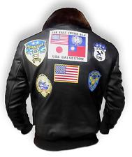 Notizie Uomo Top Gun Tom Cruise Designer nero moto leather jacket