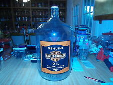 """20""""  VINTAGE 5 GALLON HARLEY DAVIDSON OIL CAN STYLE JUG WITH  N.O.S. STICKER"""