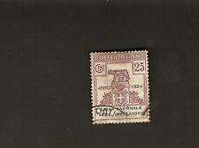 Regno d'Italia 1924 Parastatali 25c. Cassa Nazionale Assic. Inf. Lavoro