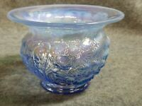 Fenton Carnival Glass Periwinkle Blue Opalescent Poppy Spittoon / Cuspidor