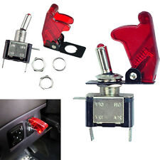 2PCS Red Cover LED Toggle Switch Racing SPST ON/OFF 20A ATV 12V for Car Truck