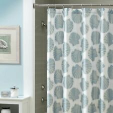 "Croscill Mosaic Shells Fabric Shower Curtain 70x72"" New Nautical Beach Theme"
