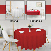 Red White Polyester Festive Table Cloth 220GSM Tablecloth Dining Wedding Party