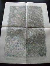 alte Karte Landkarte 40`49` Ungvar Ukraine um 1905 Nagy Mihaly