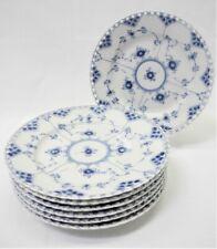 Royal Copenhagen Blue Fluted Full Lace 7 Salad Plates #1086