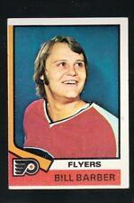 1973 - 1974 Topps Hockey Set BILL BARBER Card