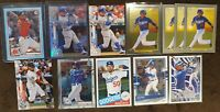 2020 Mookie Betts Lot (12) Bowman Blue Parallel #/499, Topps Chrome Refractor