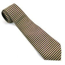 "Brooks Brothers Makers Necktie Silk Horizontal Stripe Tie Green Blue 4"" x 57"" L"