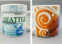 Starbucks Seattle WA Coffee Mug Lg 20 oz Vintage 1999 Pink Elephant Space Needle